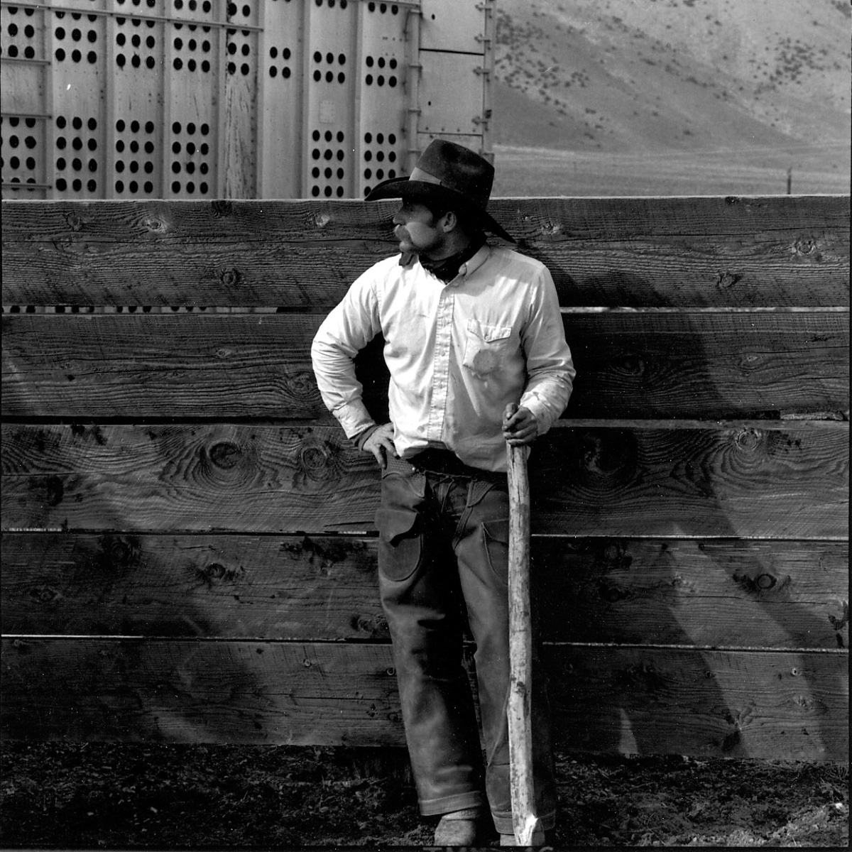 Mike McLaughlin, Fish Creek Ranch, Nevada, 1990
