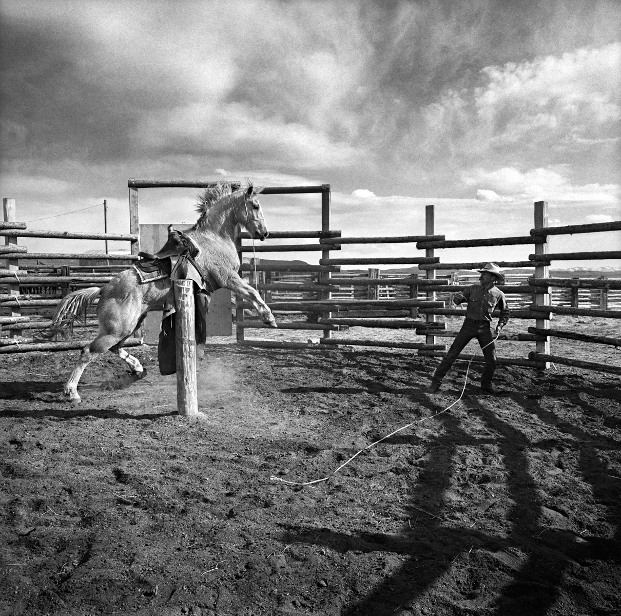 Rancho Grande,  Nevada 1989 Bobby Linn  and Custer