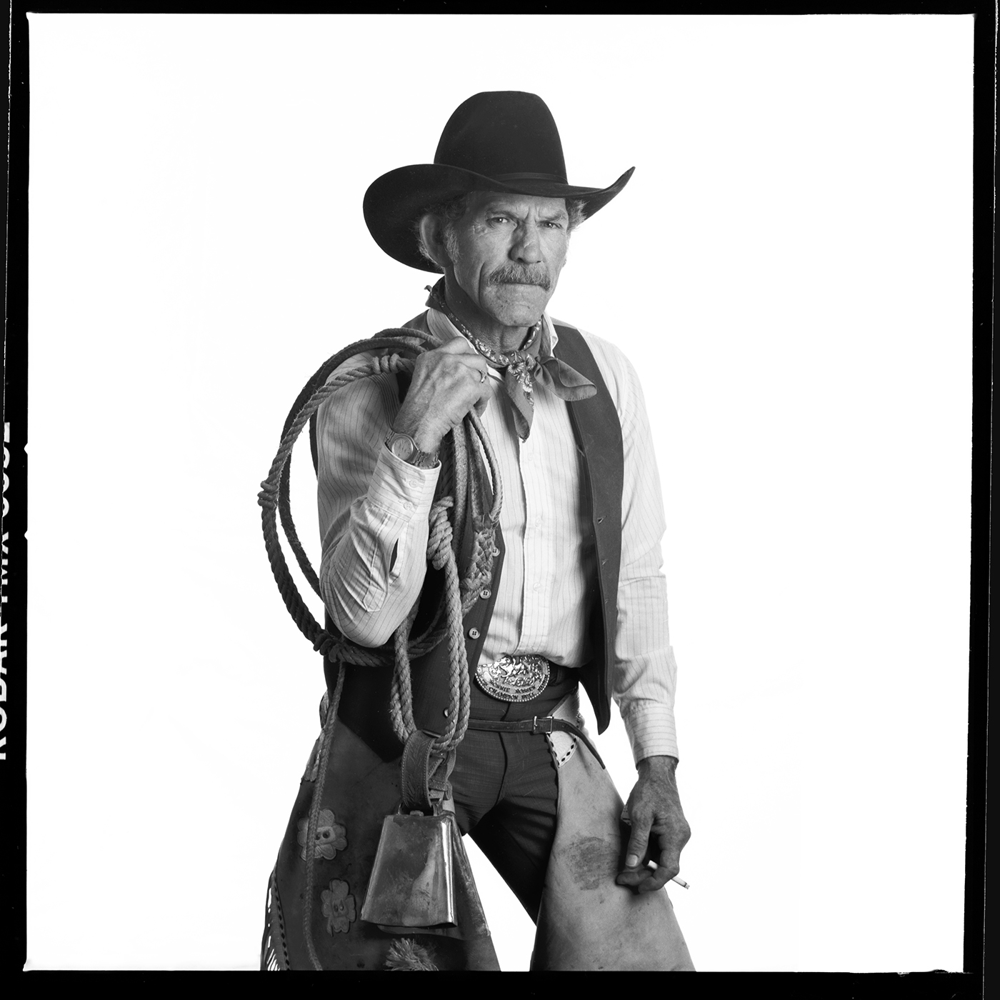 Ronnie Rossen, 2-time World Champion Bull Rider,Reno, Nevada, 1990