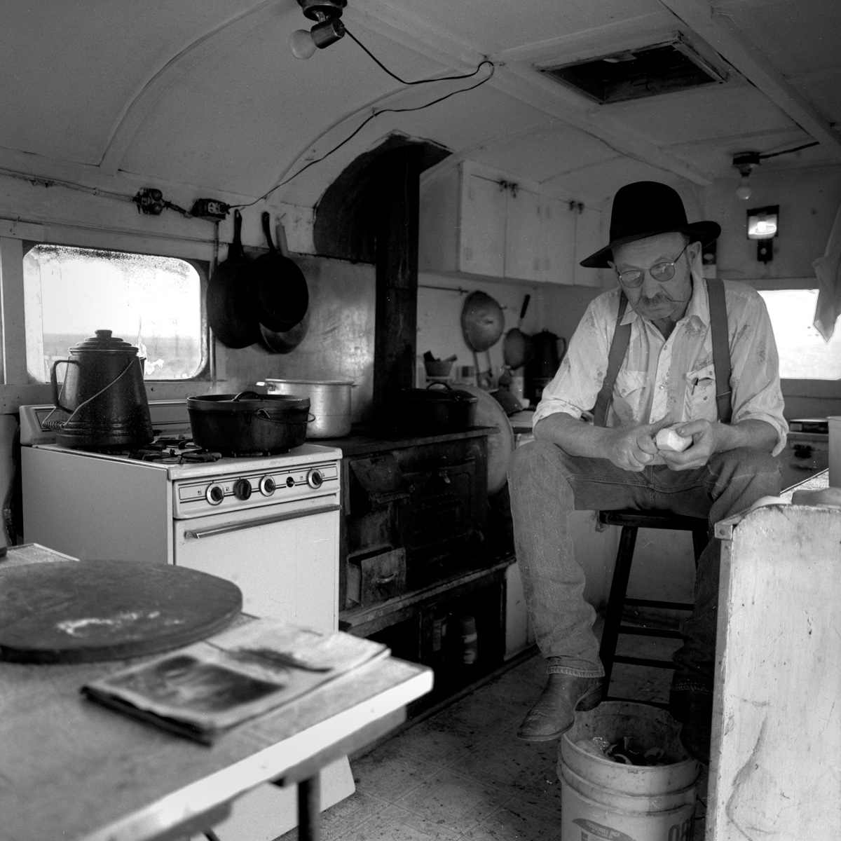 His Turn to Cook, Spanish Ranch Cow Camp near Midas, Nevada